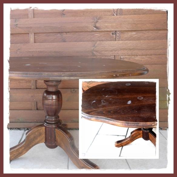 table bois relookée