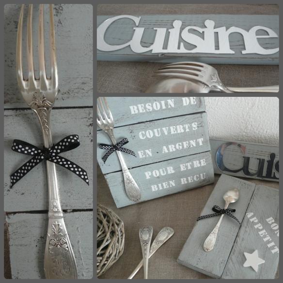 montage fourchette ou cuillère en argent