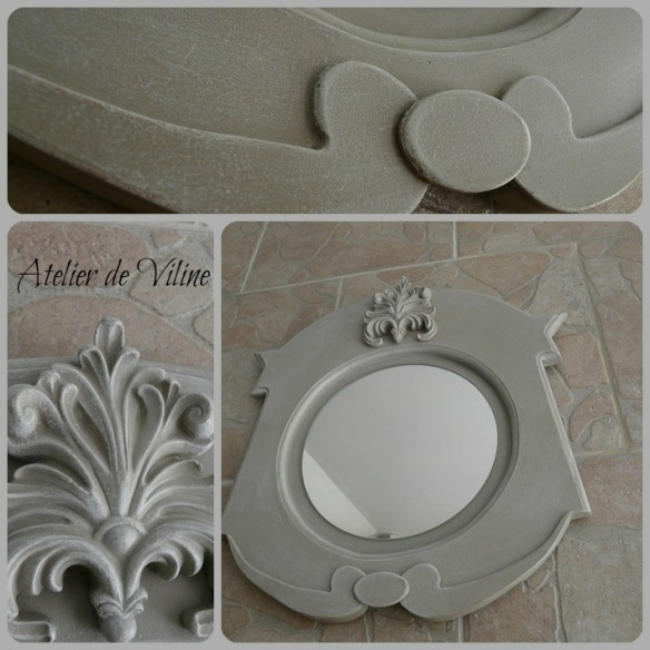 lucarne miroir gris de suede